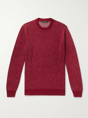 Loro Piana Slim-Fit Melange Linen, Cashmere And Silk-Blend Sweater