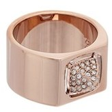 Swarovski Crystal Tactic Rose Pvd Ring.
