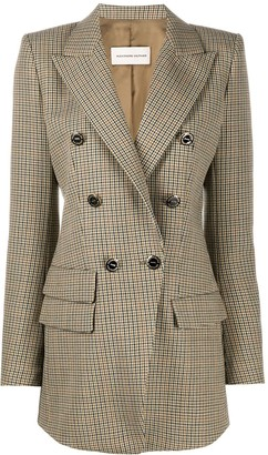 Alexandre Vauthier Plaid Double-Breasted Blazer