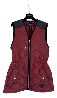 Louis Vuitton Burgundy Polyester Coats