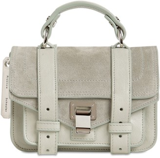 Proenza Schouler PS1 MICRO SUEDE & LEATHER BAG