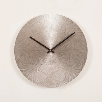 J & K Europe Imports Antique Nickel Wall Clock Small