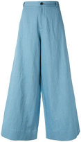Societe Anonyme New Berlino wide-leg pants - women - Cotton/Linen/Flax - 42