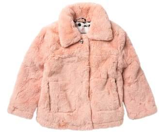 Urban Republic Faux Fur Snap Up Coat (Big Girls)