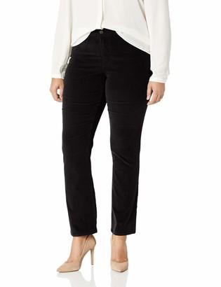 NYDJ Women's Plus Size Marilyn Straight Leg Velvet Jean