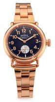 Shinola Runwell Rose Goldtone Stainless Steel Bracelet Watch