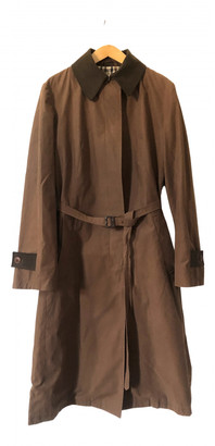 Aquascutum London Brown Cotton Coats