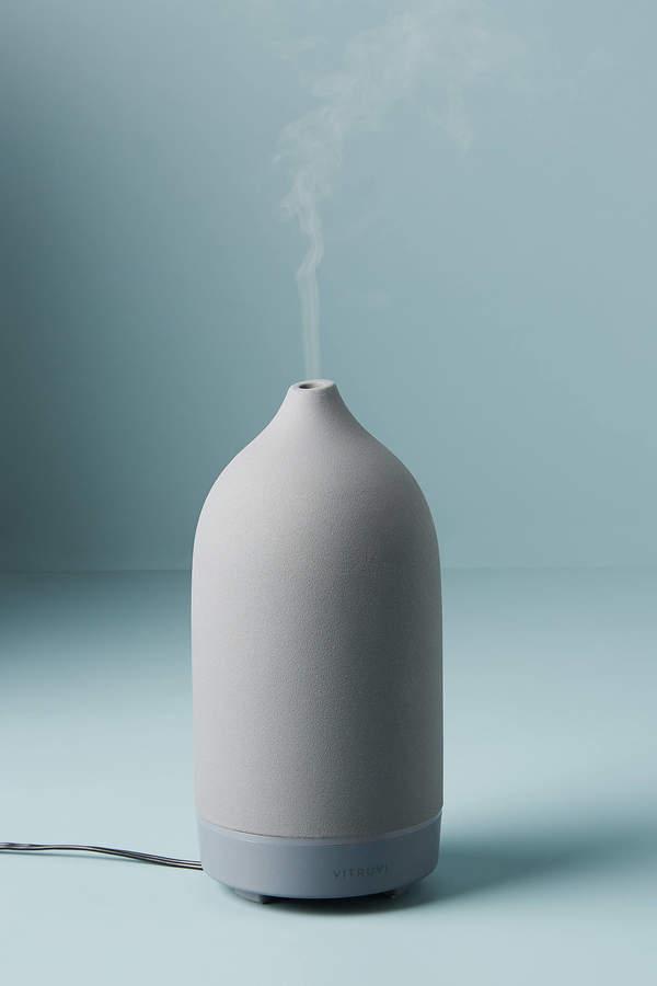 Vitruvi Charcoal Stone Essential Oil Diffuser By Vitruvi in Grey Size ALL
