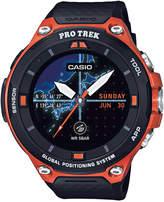 Casio Men's Pro Trek Black and Orange Resin Strap Smart Watch 62mm WSD-F20RG