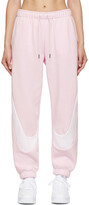 Thumbnail for your product : Nike Pink & White Swoosh Fleece Jogger Lounge Pants