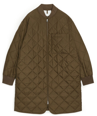 Arket Quilted Long Jacket