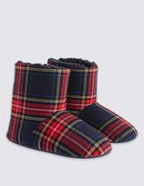 Marks and Spencer Kids' Checked Slipper