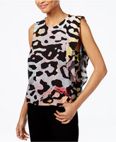 Rachel Roy Ruffled Printed Top, Only at Macy's