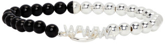 WWW.WILLSHOTT Black and Silver Onyx Bracelet