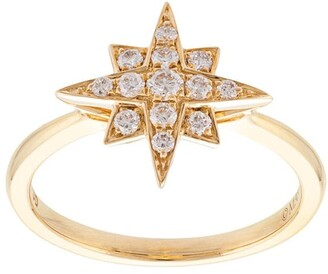 Marchesa 18kt Yellow Gold Star Diamond Ring