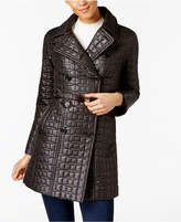 Kate Spade Quilted Bow-Belted Peacoat