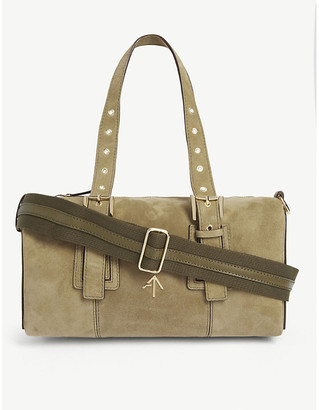 MANU Atelier Tetra suede shoulder bag