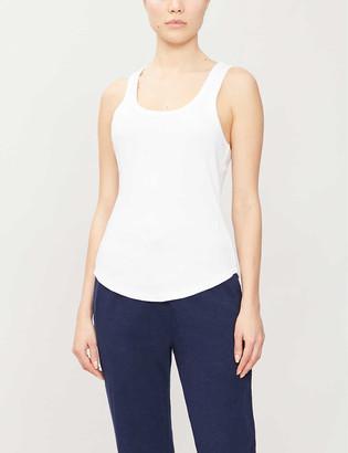 The Upside Racerback cotton-jersey vest top