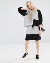 Monki Color Block Sweat Skirt