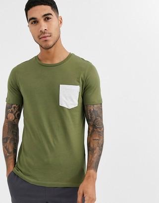 Jack and Jones Core pocket t-shirt-Green