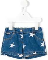 Moschino Kids - star print denim shorts - kids - Cotton - 6-9 mth