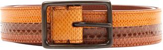 Bottega Veneta Brown Lizard Belts
