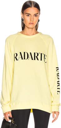 Rodarte Oversize Radarte Los Angeles Sweatshirt in Yellow & Black | FWRD