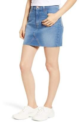 Wrangler Raw Hem Denim Mini Skirt