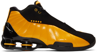 Nike Black and Yellow Shox BB4 Sneakers