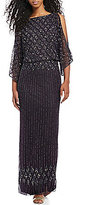 Pisarro Nights Beaded Blouson Gown
