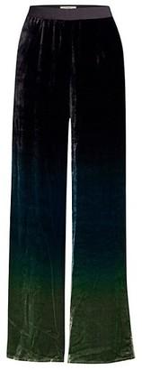 Beatrice. B Velvet Ombre Wide Leg Trousers
