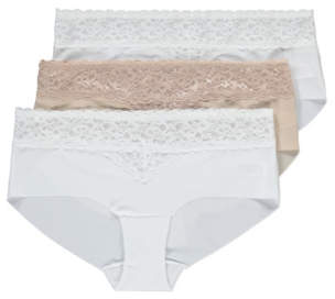 George No VPL Lace Top Short Knickers 3 Pack