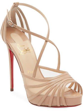 sports shoes b4e19 1da07 Filamenta Strappy Mesh Red Sole Sandals