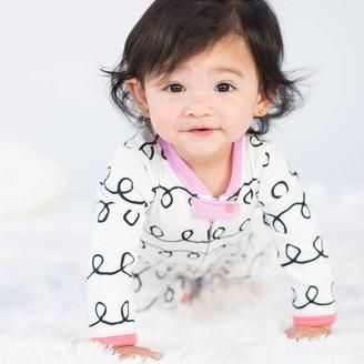 Lamaze Baby Girl' Organic Cotton Curly tripe Print Zip leep 'N Play - 3M