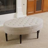 Asstd National Brand Luna Tufted Fabric Ottoman