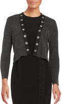 Calvin Klein Grommet Accented Cropped Cardigan