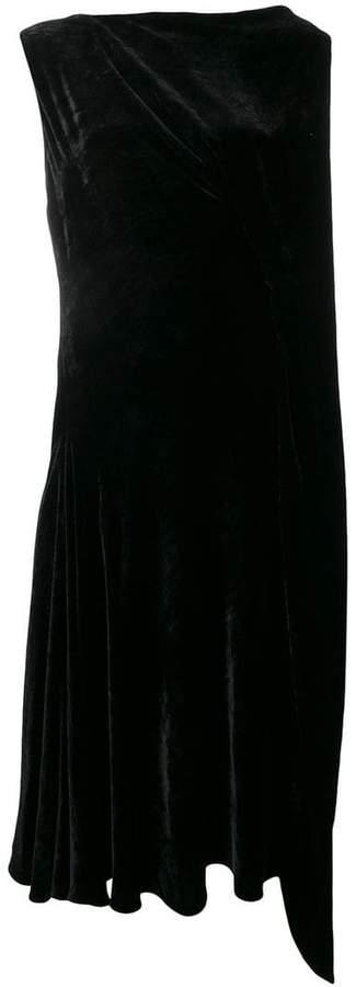 Salvatore Ferragamo asymmetric velvet dress