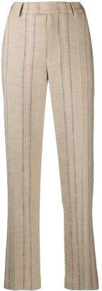 Zadig & Voltaire Straight Fit Striped Trousers