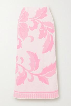MM6 MAISON MARGIELA Cotton-terry Jacquard Midi Skirt - Pink