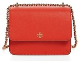 Tory Burch Mini Robinson Convertible Leather Shoulder Bag - Grey