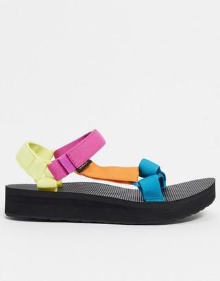 Teva Midform Universal sandals in retro colour block