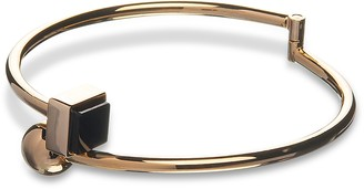 Arlequin Golden Brass Thin Bangle w/Black Stone