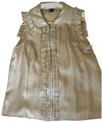 Marc by Marc Jacobs Gold Silk Top for Women