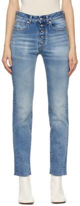 MM6 MAISON MARGIELA Blue Exposed Button Jeans