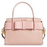 Miu Miu Madras Ficco Leather Satchel - Pink