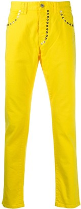 Just Cavalli Just-fit studded slim-fit jeans