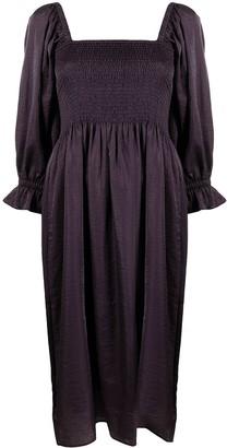 Baum und Pferdgarten Puff-Sleeved Dress