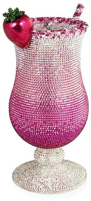 Judith Leiber Pink Lady Cocktail Crystal Clutch