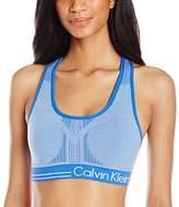 Calvin Klein Women's Reversible Microstripe Medium Impact Sport Bra