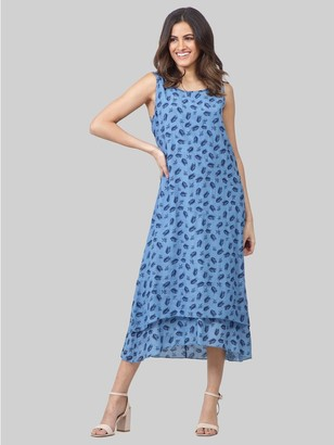 M&Co Izabel feather print tunic dress